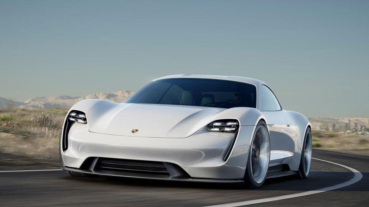 electric supercar - Porsche Mission E