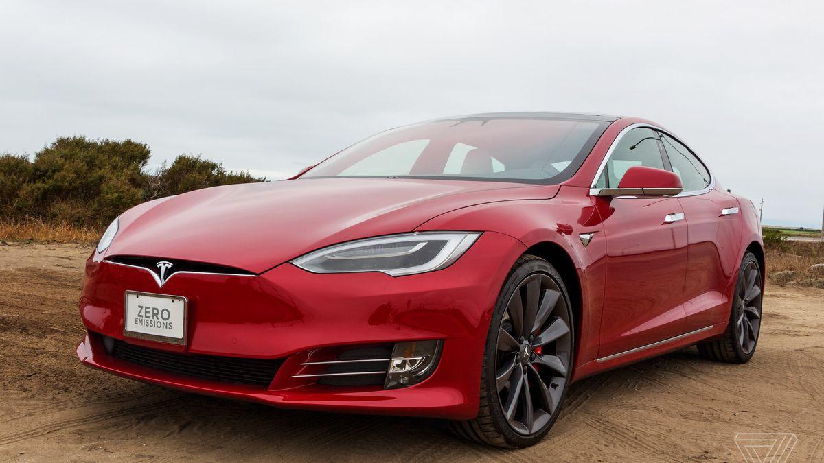 electric supercar -  Tesla Model S P100D