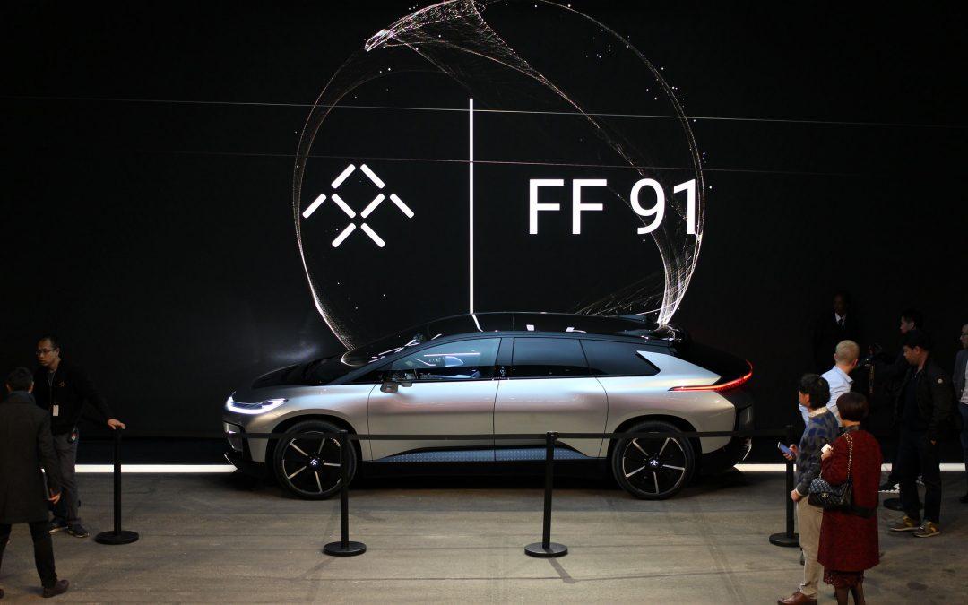 Faraday Future car on a show